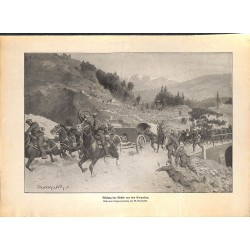 2300	 WWI print 1914/18-	russian retreat soldiers Karparthen	,size:	23,5 x 32,5 cm	, printed on normal paper-	,this print comes