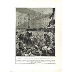 2302	 WWI print 1914/18-	East Afrika heroes in Berlin March 1919 	,size:	23,5 x 32,5 cm		,this print comes from the german book