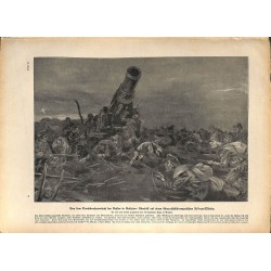 2309	 WWI print 1914/18-	Mortar 30,5 cm austro hungarian artillery russian attack	,size:	23,5 x 32,5 cm	, printed on normal pape