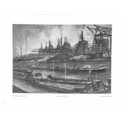 """6020-Iindustrial harbor """"Industriehafen""""by Otto Geigenbaergerpainting"""
