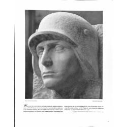 6027-WWII soldier steel helmet Soldatenkopf Wehrmachtby Richard Scheibesculpture/bust