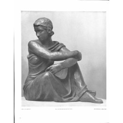 "6058-girl ""Sinnende""by Fritz Klimschsculpture"