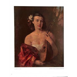6076-young girl with instrument by Andreas Patzeltcolor painting