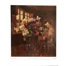"""6079-flowers """"Zyklamen""""by Friedrich Stahlcolor painting"""