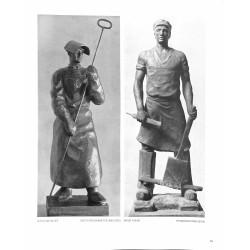 """6098-""""Hochofenarbeiter"""" workersby Otto Winkler & Ernst Kunstsculptures"""