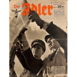 0626	 DER ADLER	 -No.	10	-1943	 vintage German Luftwaffe Magazine Air Force WW2 WWII