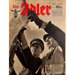 0627 DER ADLER -No.10-1943 vintage German Luftwaffe Magazine Air Force WW2 WWII