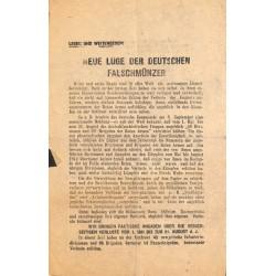 2783 WWII leaflet Russia -Neue Lüge der deutschen Falschmünzer sowjetisches Informationsbürorussian leaflet f