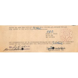 2794	 WWII US permit POW Camp Wiesbach	-	101 A/B Division PWE		100% original permit to report to the mayor	fl