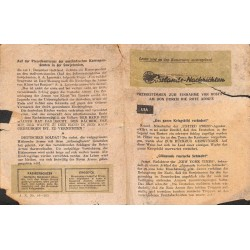 2800 WWII leaflet Russia Eastern Front -Auslandsnachrichten A.N. Nr. 44-525russian leaflet for german soldiers