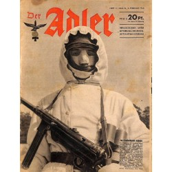 0647	 DER ADLER	 -No.	3	-1943	 vintage German Luftwaffe Magazine Air Force WW2 WWII
