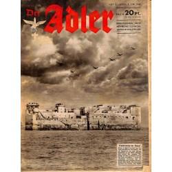 0649 DER ADLER -No.12-1943 vintage German Luftwaffe Magazine Air Force WW2 WWII