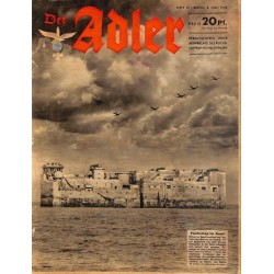 0651	 DER ADLER	 -No.	12	-1943	 vintage German Luftwaffe Magazine Air Force WW2 WWII