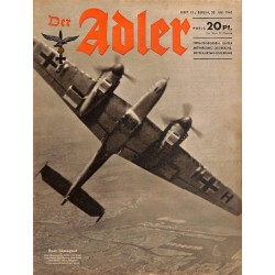 0654	 DER ADLER	 -No.	15	-1943	 vintage German Luftwaffe Magazine Air Force WW2 WWII