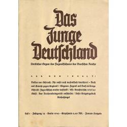 6588 DAS JUNGE DEUTSCHLAND No. 1-1940 - Amtliches Organ des Jugendführers des Deutschen Reiches