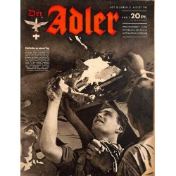 0662 DER ADLER -No.18-1943 vintage German Luftwaffe Magazine Air Force WW2 WWII