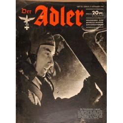 0671 DER ADLER -No.23-1943 vintage German Luftwaffe Magazine Air Force WW2 WWII