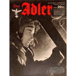 0673	 DER ADLER	 -No.	23	-1943	 vintage German Luftwaffe Magazine Air Force WW2 WWII