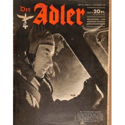 0674	 DER ADLER	 -No.	23	-1943	 vintage German Luftwaffe Magazine Air Force WW2 WWII