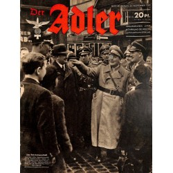 0675 DER ADLER -No.24-1943 vintage German Luftwaffe Magazine Air Force WW2 WWII