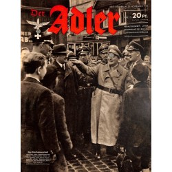 0676	 DER ADLER	 -No.	24	-1943	 vintage German Luftwaffe Magazine Air Force WW2 WWII