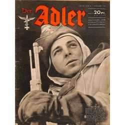 0678	 DER ADLER	 -No.	25	-1943	 vintage German Luftwaffe Magazine Air Force WW2 WWII