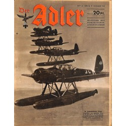 0680	 DER ADLER	 -No.	26	-1943	 vintage German Luftwaffe Magazine Air Force WW2 WWII