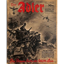 0681	 DER ADLER	 -No.	17	-1941	 vintage German Luftwaffe Magazine Air Force WW2 WWII