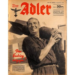 0684	 DER ADLER	 -No.	18	-1941	 vintage German Luftwaffe Magazine Air Force WW2 WWII