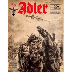 0685	 DER ADLER	 -No.	25	-1941	 vintage German Luftwaffe Magazine Air Force WW2 WWII