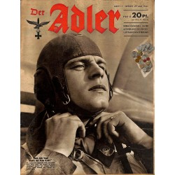0694	 DER ADLER	 -No.	11	-1941	 vintage German Luftwaffe Magazine Air Force WW2 WWII