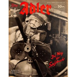 0696	 DER ADLER	 -No.	20	-1941	 vintage German Luftwaffe Magazine Air Force WW2