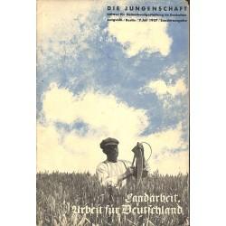 7885 DIE JUNGENSCHAFT1937 Sonderausgabe-7.Juli Landarbeit, Arbeit für Deutschland
