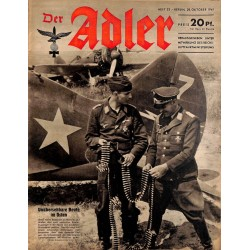 0702	 DER ADLER	 -No.	22	-1941	 vintage German Luftwaffe Magazine Air Force WW2 WWII