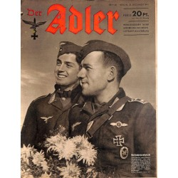 0704	 DER ADLER	 -No.	26	-1941	 vintage German Luftwaffe Magazine Air Force WW2 WWII