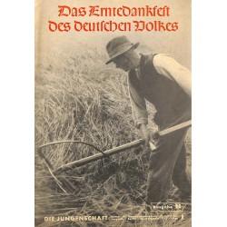7913 DIE JUNGENSCHAFT No.  1-1938 Ausgabe B- 28.September Das Erntedankfest des deutschen Volkes