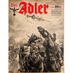 0707	 DER ADLER	 -No.	25	-1941	 vintage German Luftwaffe Magazine Air Force WW2 WWII