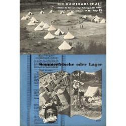 7940 DIE KAMERADSCHAFT No.  13-1936- 22.Juli Sommerfrische oder Lager