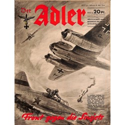 0710	 DER ADLER	 -No.	14	-1941	 vintage German Luftwaffe Magazine Air Force WW2 WWII