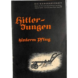 7945 DIE KAMERADSCHAFT No.  17-1936- 23.September Hitler-Jungen hinterm Pflug