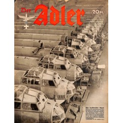 0712	 DER ADLER	 -No.	23	-1941	 vintage German Luftwaffe Magazine Air Force WW2 WWII