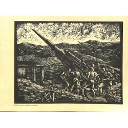 7532 Original Third Reich print 1940's WWII -Batterie in Stellung