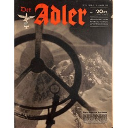 0728	 DER ADLER	 -No.	2	-1943	 vintage German Luftwaffe Magazine Air Force WW2 WWII