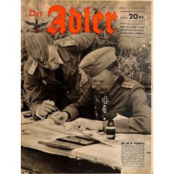 0730	 DER ADLER	 -No.	17	-1943	 vintage German Luftwaffe Magazine Air Force WW2 WWII