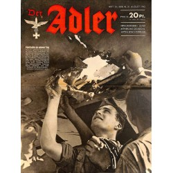 0731	 DER ADLER	 -No.	18	-1943	 vintage German Luftwaffe Magazine Air Force WW2 WWII