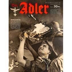 0731 DER ADLER -No.18-1943 vintage German Luftwaffe Magazine Air Force WW2 WWII