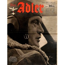 0735	 DER ADLER	 -No.	6	-1942	 vintage German Luftwaffe Magazine Air Force WW2 WWII