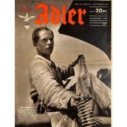 0737 DER ADLER -No.18-1942 vintage German Luftwaffe Magazine Air Force WW2 WWII