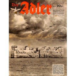 0740	 DER ADLER	 -No.	12	-1943	 vintage German Luftwaffe Magazine Air Force WW2 WWII