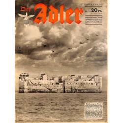 0744 DER ADLER -No.10-1942 vintage German Luftwaffe Magazine Air Force WW2 WWII
